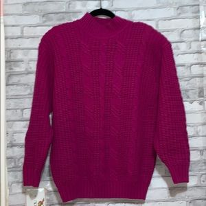 Vintage Purple Chunky Cable Sweater by Ellemenno